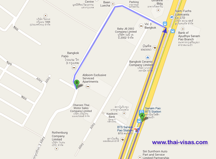 map Abloom Exclusive Serviced Apartments