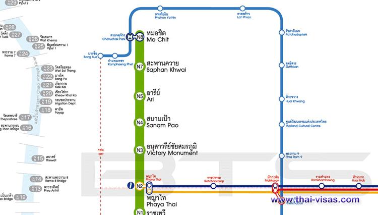 BTS Saphan Khwai Station