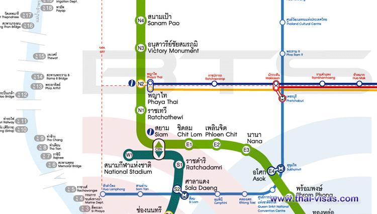 BTS Ratchathewi Station