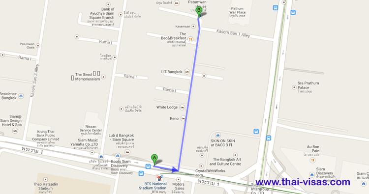Patumwan House Map
