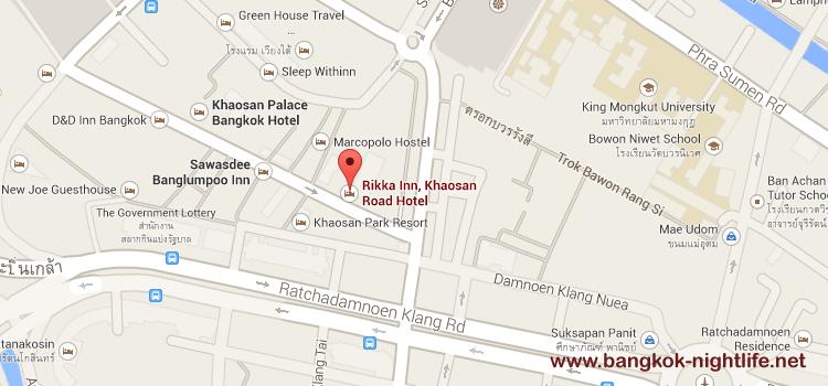 Rikka Inn Khaosan Road Map