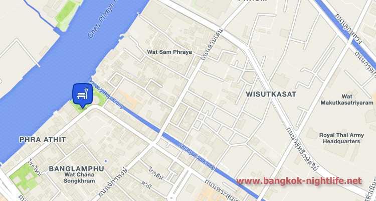 Santichai Prakan Park Map